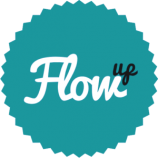 Flow-up-logo turkus